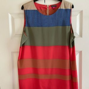 Vince Camuto striped round neck sleeveless tunic